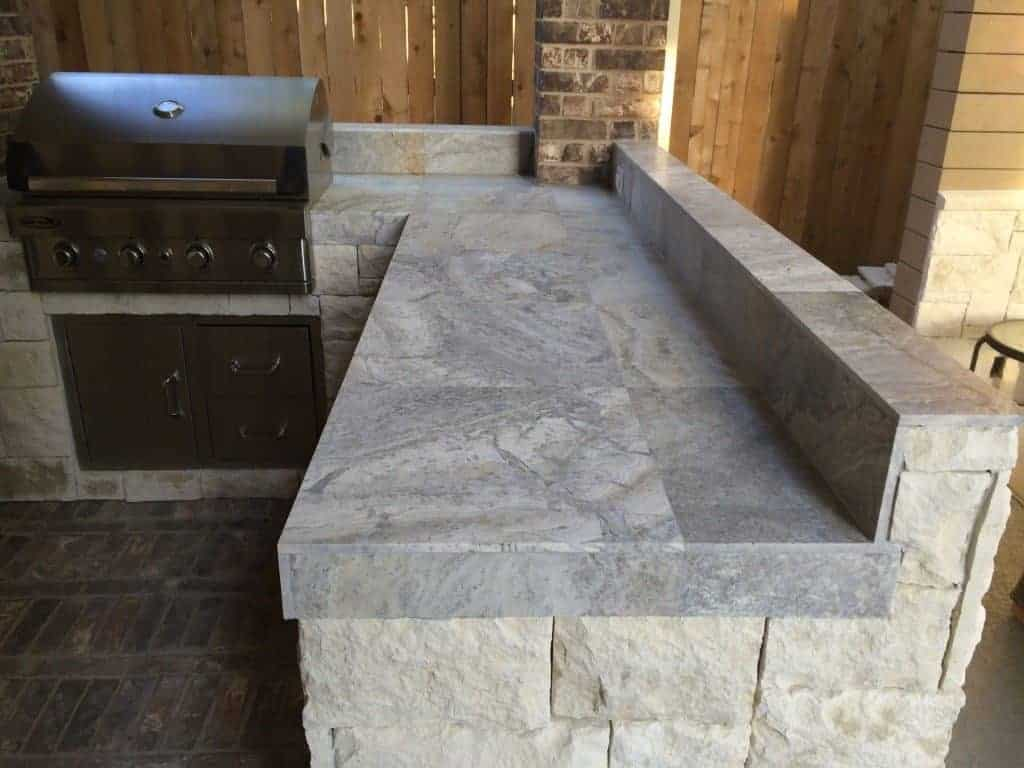 How to select your outdoor kitchen countertop.