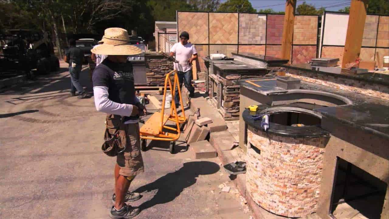 Building an outdoor kitchen on a budget.
