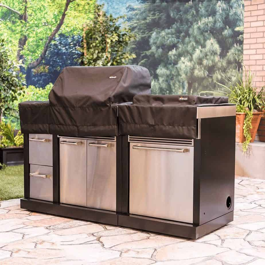 An outdoor kitchen cover.